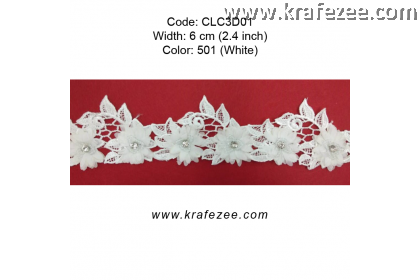 Flower Lace with Beads (CLC3D01) - Col.501