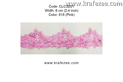 Flower Lace with Beads (CLC3D01) - Col.515