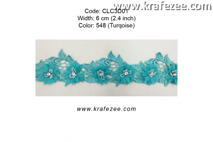 Flower Lace with Beads (CLC3D01) - Col.548