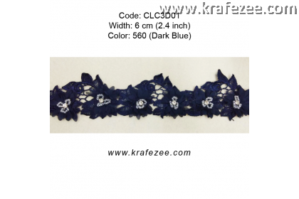 Flower Lace with Beads (CLC3D01) - Col.560
