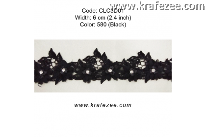 Flower Lace with Beads (CLC3D01) - Col.580