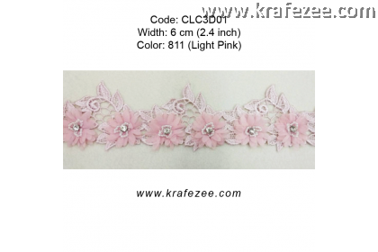 Flower Lace with Beads (CLC3D01) - Col.811