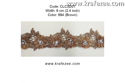 Flower Lace with Beads (CLC3D01) - Col.894