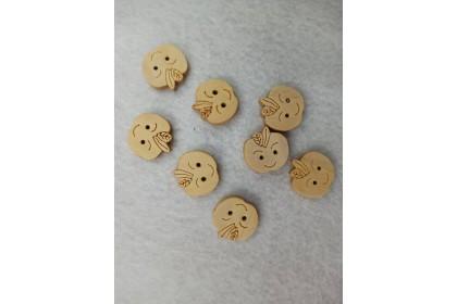 Crat Button Cute Apple