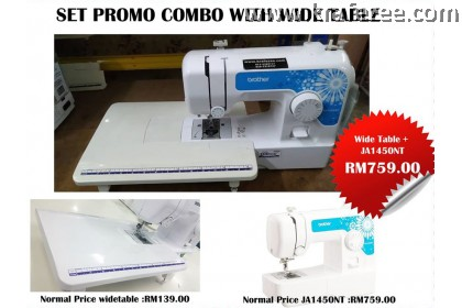 Combo Mesin Jahit Portable Brother JA1450NT dan Wide Table Extension FOC LIMITED OFFER