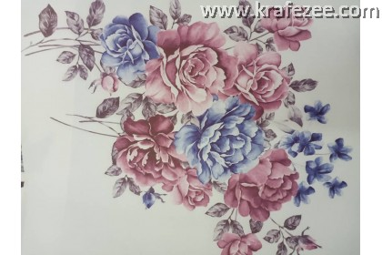 Iron on Printed Flower Small design 2