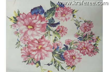 Iron on Printed Flower Small design 4