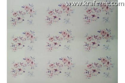 Iron on Printed Flower Small design 10