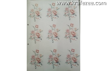 Iron on Printed Flower Small design 11