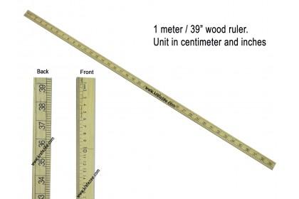 """1 Meter / 39"""" Wood Tailor Ruler"""