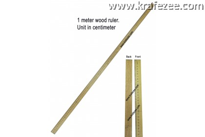 1 Meter Wood Tailor Ruler