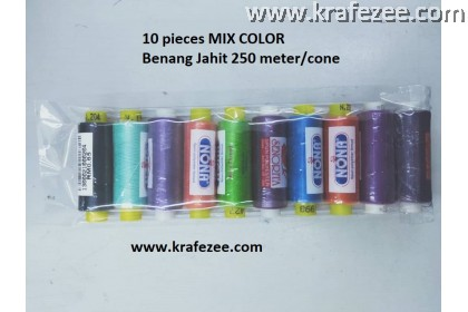 10 Rolls Mix Color Sewing Threads (250m/roll)