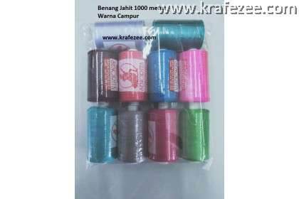 10 Rolls Mix Color Sewing Threads (1000m/roll)