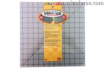 "12.5"" x 12.5"" OLFA Grid Ruler with Frosted Surface"
