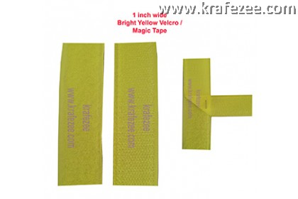 Sew On Bright Yellow Velcro Magic Tape 1 inch Wide 1 meter Long