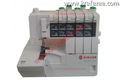 Mesin Jahit Tepi Coverstitch Overlock - Coverlock Singer 14n735c. Multifunction overlocker