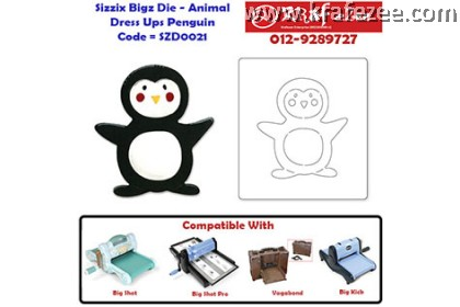 SZD0021 Sizzix Bigz Die - Animal Dress Ups Penguin