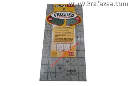 "6"" x 12"" OLFA Quilt Frosted Grid Ruler"