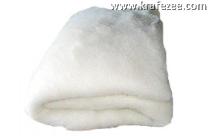 Polyester Batting Fibre. 45 inch wide. 0.5 inch thick