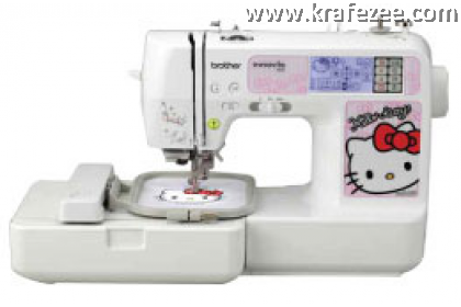 Mesin Jahit Sulam Brother Innovis NV980K Hello Kitty + 5000 Embroidery Patterns + Basic Software