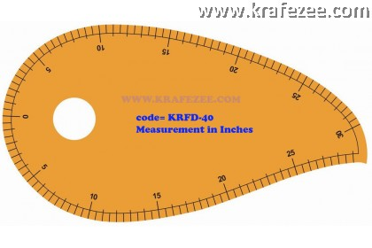 Multipurpose Fashion Garment Ruler KRFD-40