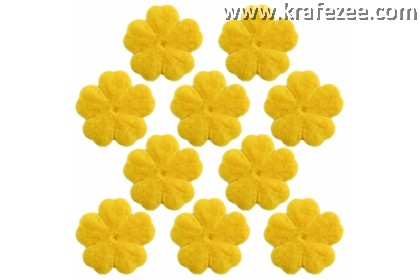 PF03-504 Precut Felt Flower Yellow