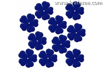 PF03-558 Precut Felt Flower Deep Royal Blue