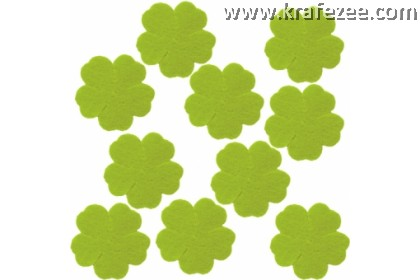 PF03-804 Precut Felt Flower Green Yellow
