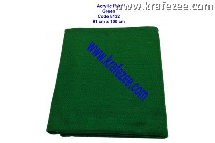 Soft Acrylic Felt Fabric -  Green (1 meter)