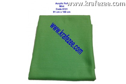 Soft Acrylic Felt Fabric - Mint (1 meter)