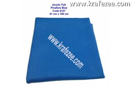 Soft Acrylic Felt Fabric - Pinafore Blue (1 meter)
