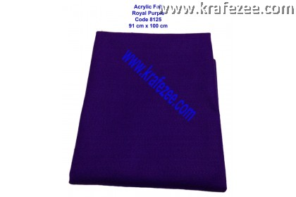 Soft Acrylic Felt Fabric - Royal Purple (1 meter)