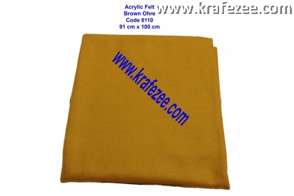 Soft Acrylic Felt Fabric - Brown Ochre (1 meter)