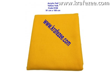 Soft Acrylic Felt Fabric - Yellow Yolk (1 meter)