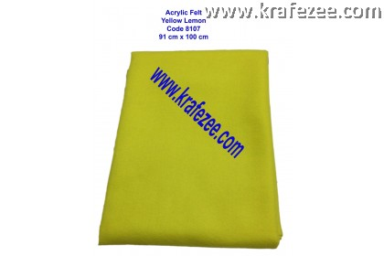 Soft Acrylic Felt Fabric - Yellow Lemon (1 meter)