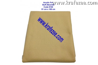 Soft Acrylic Felt Fabric - Buff Neutral (1 meter)