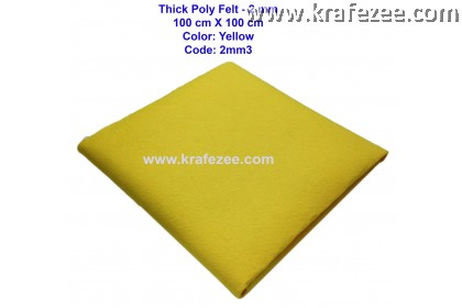 Poly Felt Fabric 2mm - Yellow (1 meter)