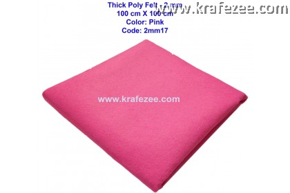 Poly Felt Fabric 2mm - Pink (1 meter)