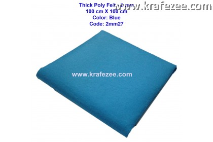 Poly Felt Fabric 2mm - Blue (1 meter)