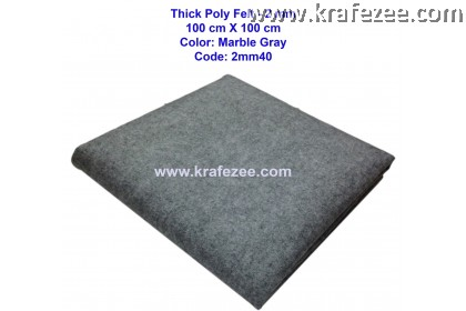 Poly Felt Fabric 2mm - Marble Grey (1 meter)
