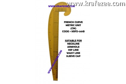 Multipurpose Fashion Garment French Curve Ruler KRFD-501B