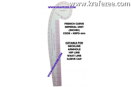 Multipurpose Fashion Garment French Curve Ruler KRFD-504