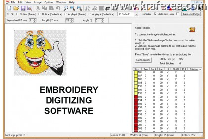 Embroidery Digitizer Software