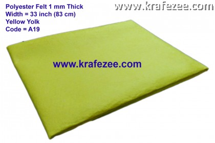 Poly Felt Fabric 1mm - Yellow Yolk (1 meter)