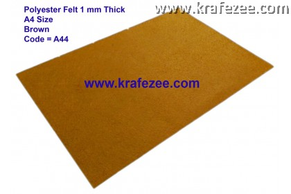 Poly Felt 1mm A4 Size - Brown