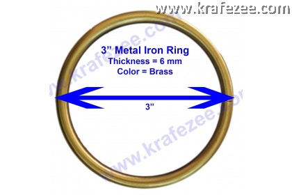 Brass Color O Rings 3 Inch (76 mm)