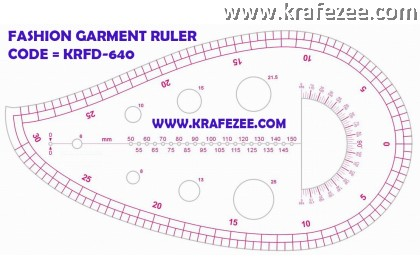 Multipurpose Fashion Garment Ruler KRFD-640