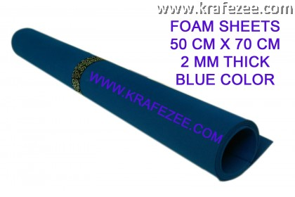 Craft Foam Sheets 2 mm Thick - Blue