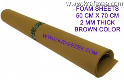 Craft Foam Sheets 2 mm Thick - Brown