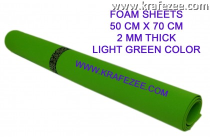 Craft Foam Sheets 2 mm Thick - Light Green